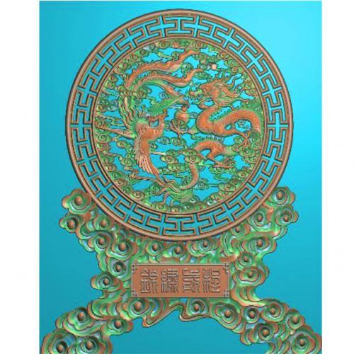 龙凤精雕图(L-1216)