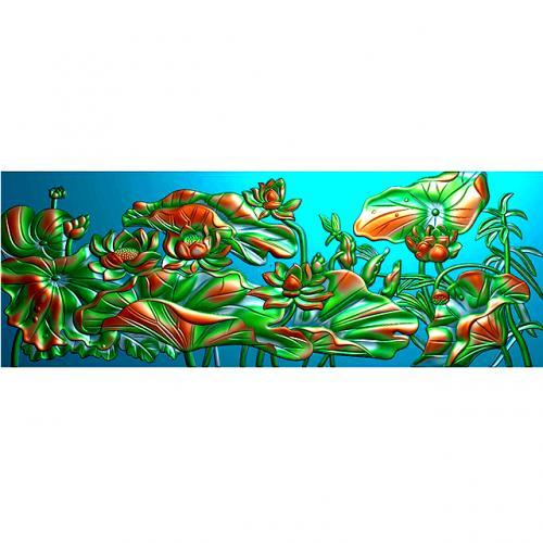石材玉雕背景墙浮雕图(YD-30)