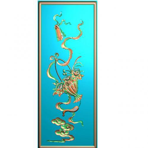 藏式八宝精雕图(BB-488)