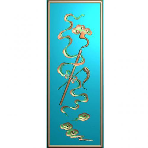 藏式八宝精雕图(BB-493)