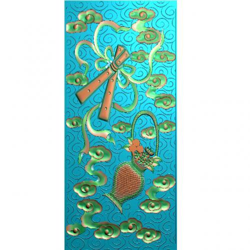藏式八宝精雕图(BB-494)
