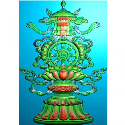 藏式八宝精雕图(BB-499)