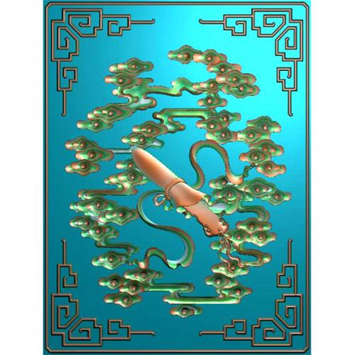 藏式八宝浮雕图(BB-894)