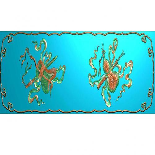 藏式八宝浮雕图(BB-1502)