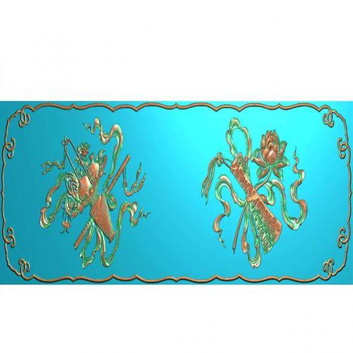藏式八宝浮雕图(BB-1504)