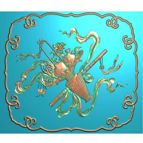 藏式八宝浮雕图(BB-1506)
