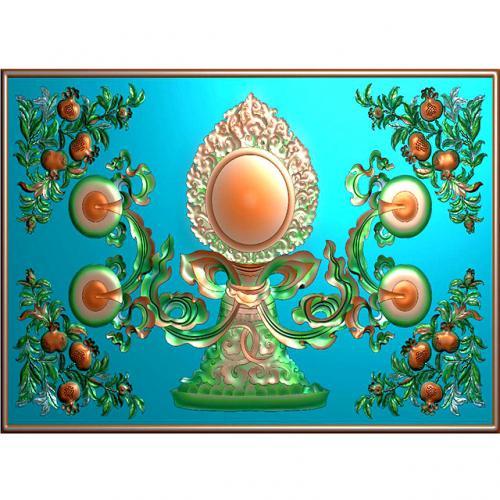 藏式八宝浮雕图(BB-1511)