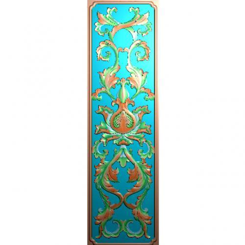 欧式洋花长条门花贴花浮雕图(CT-386)
