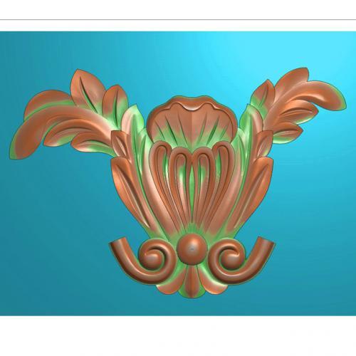 欧式洋花长条门花贴花浮雕图(CT-437)