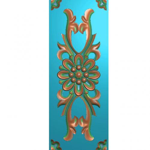 欧式洋花长条门花贴花浮雕图(CT-440)