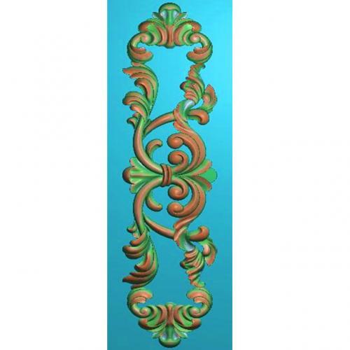 欧式洋花贴花长条门花精雕图(CT-664)