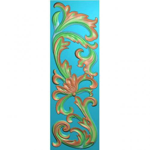 欧式洋花贴花长条门花精雕图(CT-673)