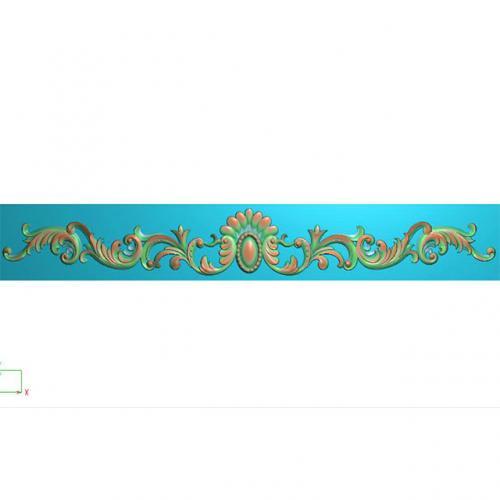 欧式洋花贴花长条门花精雕图(CT-710)