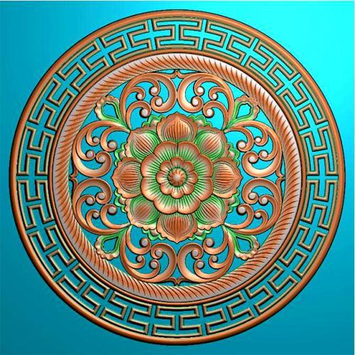 圆盘挂件挂匾精雕图挂匾浮雕图(GJ-8000)