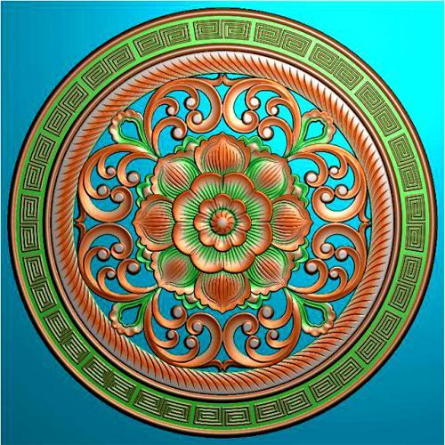 圆盘挂件挂匾精雕图挂匾浮雕图(GJ-8001)