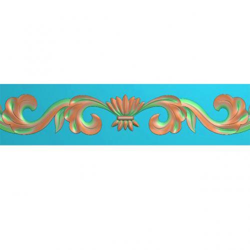 石材欧式洋花边角腰线装饰精雕图(BS-40)