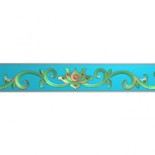 石材欧式洋花边角腰线装饰精雕图(BS-72)