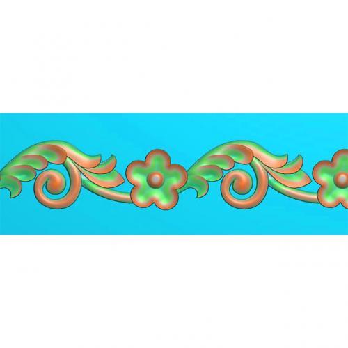 欧式洋花石材边角腰线浮雕图加工图(BS-101)