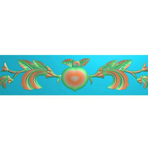 欧式洋花石材边角腰线浮雕图加工图(BS-142)