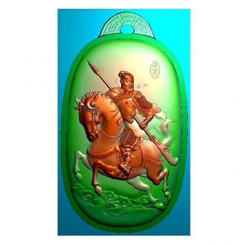 骑马关公精雕图有线(GG-8041)
