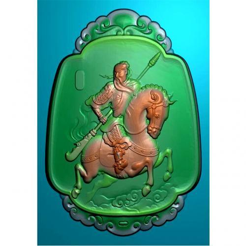 骑马关公精雕图有线(GG-8049)