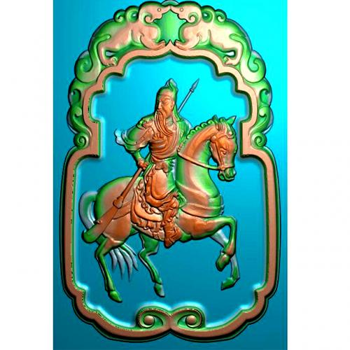 骑马关公精雕图有线(GG-8050)