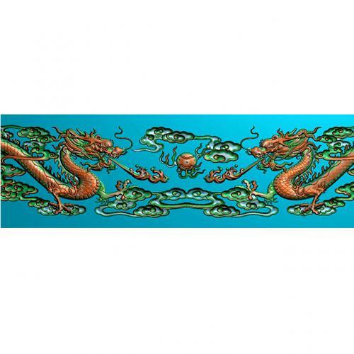 龙-祥云浮雕雕刻图(L-897)