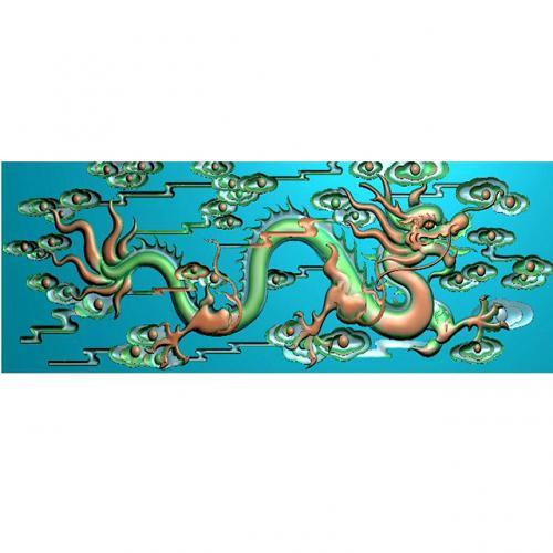 龙祥云精雕图(L-1231)