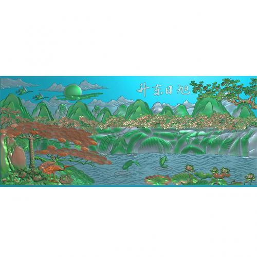 石雕山水精雕图(ZS-194)