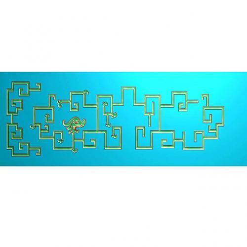 中式草龙草凤浮雕图(CL-6035)