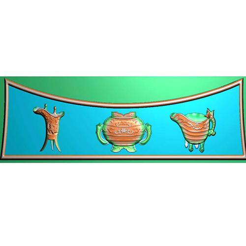 藏式八宝浮雕图(BB-6014)