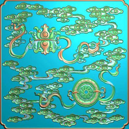 藏式八宝浮雕图(BB-6015)