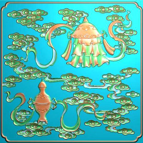 藏式八宝浮雕图(BB-6016)