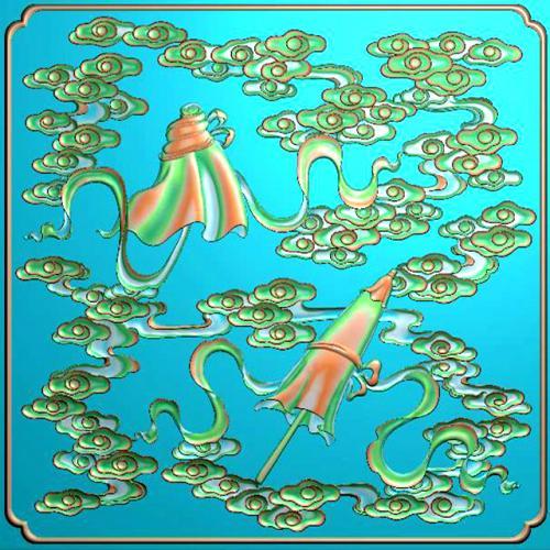 藏式八宝浮雕图(BB-6017)