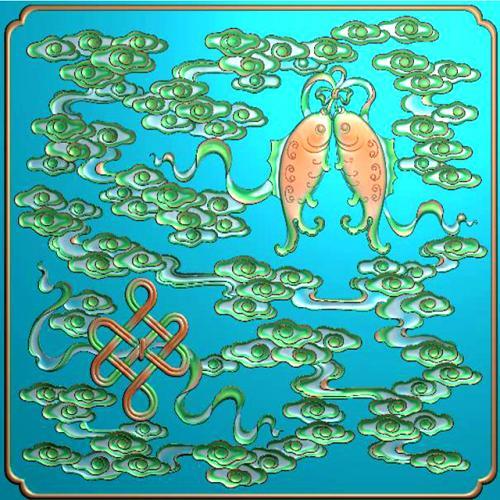 藏式八宝浮雕图(BB-6018)