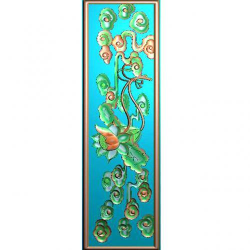 藏式八宝 精雕图(BB-7051)