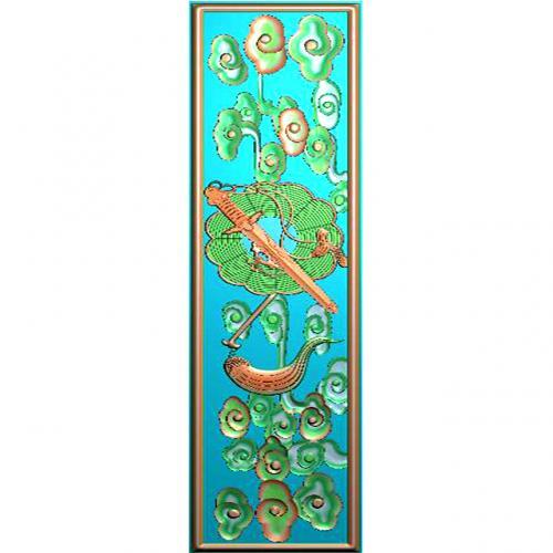 藏式八宝浮雕图(BB-7053)