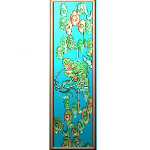 藏式八宝浮雕图(BB-7054)