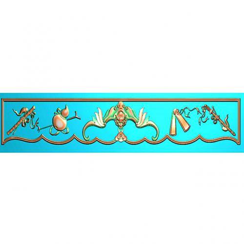 藏式八宝浮雕图(BB-7055)