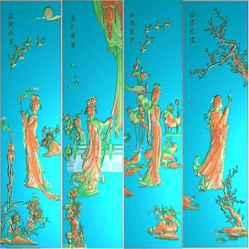 四大美女整套图精雕图(SDMN-001)