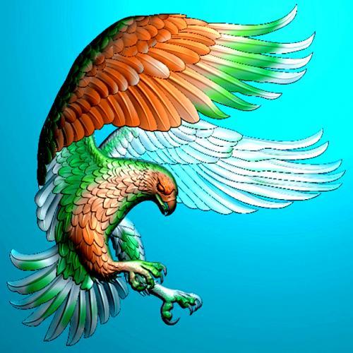 鹰四六牌雕刻图(SLP-0150)