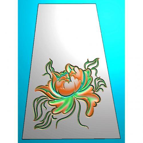 牡丹四六牌精雕图(SLP-0273)
