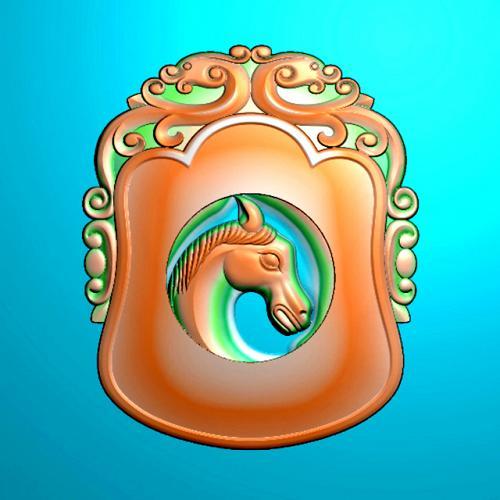 双马四六牌精雕图(SLP-0289)