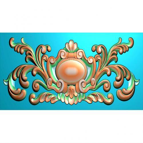 石材欧式洋花浮雕图(OS-133)