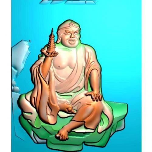 罗汉精雕图(LH-8055)