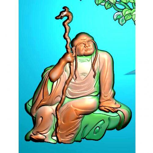 罗汉精雕图(LH-8065)
