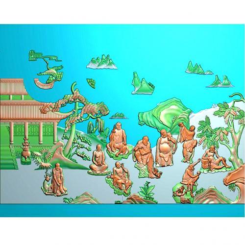 罗汉精雕图(LH-8072)