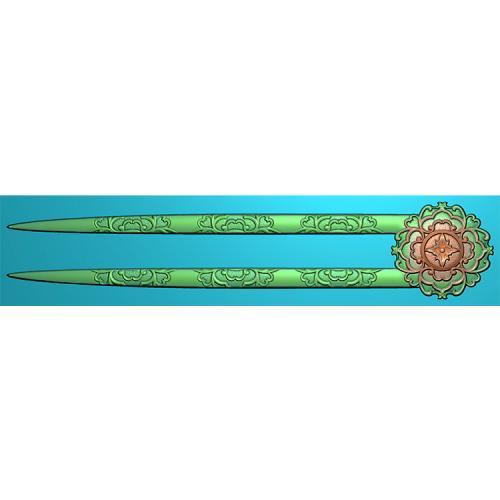 簪子发簪精雕图(FZ-001)