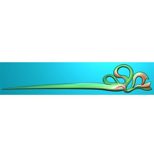 簪子发簪精雕图(FZ-0040)