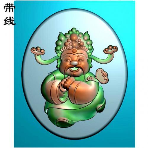 卡通财神精雕图(CS-8002)